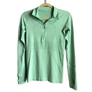 Lululemon Mint Green Long Sleeve Thumbhole Top